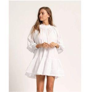 Cleobella Ethereal Mini Dress White Boho NWT